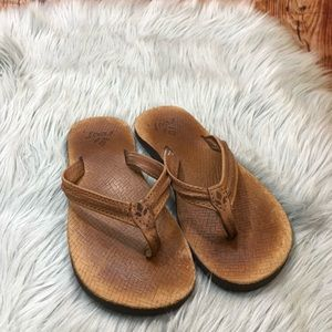 Reef brown flip flop size 7